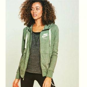 Nike Heather Green Gym Vintage Full-Zip Hoodie Ath
